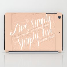 Live Simply iPad Case