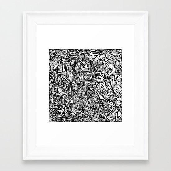 Conquer (Black & White Version)  Framed Art Print