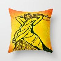 Women With No Faces--ser… Throw Pillow