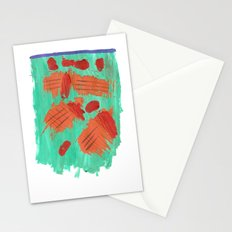 Traces on a grass... Stationery Cards