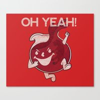 OH YEAH! Canvas Print