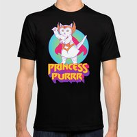 Princess of Purrr Mens Fitted Tee Black SMALL