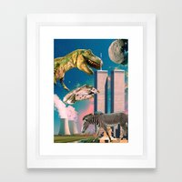 Dino Blaster Framed Art Print