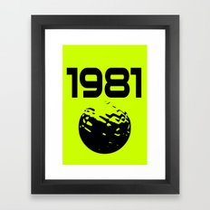 1981 Framed Art Print