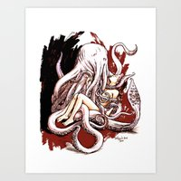 Cuthulhu Love Art Print