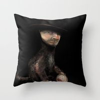 Charles The Cat Throw Pillow
