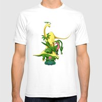 Grassiosaurs Mens Fitted Tee White SMALL