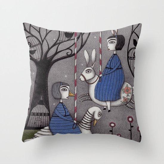 Merry-go-round  Throw Pillow
