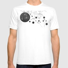 Bike Map Mens Fitted Tee SMALL White