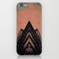 iPhone & iPod Case featuring Graphic Building by Molzography