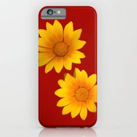 Two Yellow Flowers On Fu… iPhone 6 Slim Case