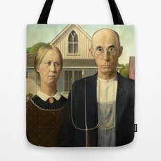 American Gothic by Grant Wood Tote Bag