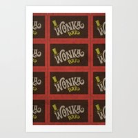 Wonka Bar Art Print