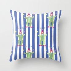 Clown (blue) Throw Pillow