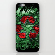 Recycle World - Green iPhone & iPod Skin