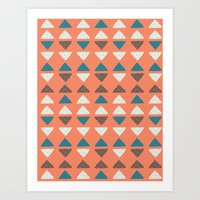 Triangles + Dots Art Print