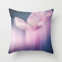 FADING BEAUTY - Abstraction of a pink cosmea Throw Pillow