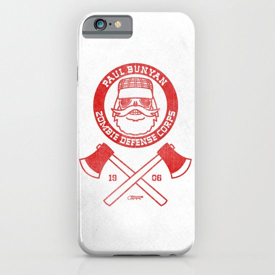 Paul Bunyan Zombie Defense Corps iPhone & iPod Case