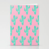 Linocut Cacti Candy Stationery Cards