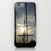 iPhone & iPod Case featuring sailboat on the sunrise by Silvia Giacoletto