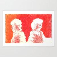 Away Women Art Print
