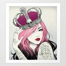 Save The Queen Art Print