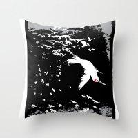 Aflockalypse Wow Throw Pillow
