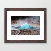 Blow Some Steam Framed Art Print