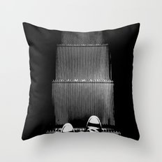 Up The Down Escalator Throw Pillow