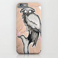 Owl On The Branch With A… iPhone 6 Slim Case
