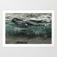 wave forming Art Print