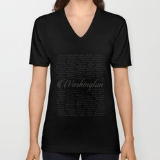 Washington Unisex V-Neck