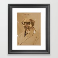 Winston The Dog Framed Art Print
