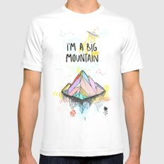 Big Mountain SMALL White Mens Fitted Tee