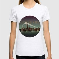 Gotham City Womens Fitted Tee Ash Grey SMALL