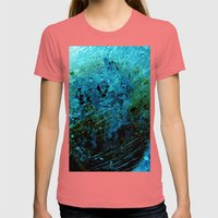 What happened? Womens Fitted Tee Pomegranate SMALL