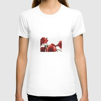 Love Petals Womens Fitted Tee White SMALL