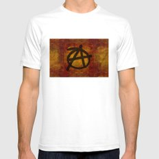 Anarchy Mens Fitted Tee White SMALL