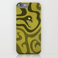 iPhone & iPod Case featuring Funny Cartoon Evil Snakes by Boriana Giormova