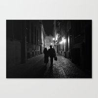Brussels, a night walk in the heart of Europe Canvas Print