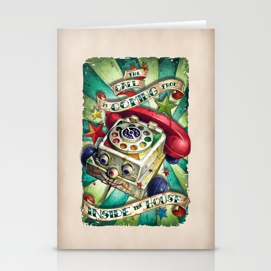 """""""The Call is Coming from Inside the House"""" Stationery Card"""