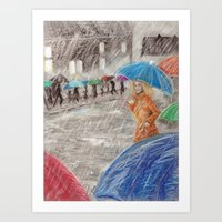 Rainy Days in Normandy Art Print