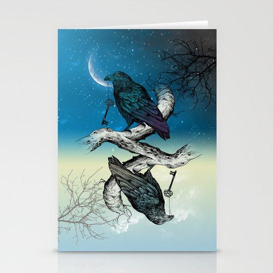 Raven's Key Night+Day Stationery Card
