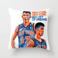 Jeremy Lin: New York, New York, Big City of Dreams. Throw Pillow
