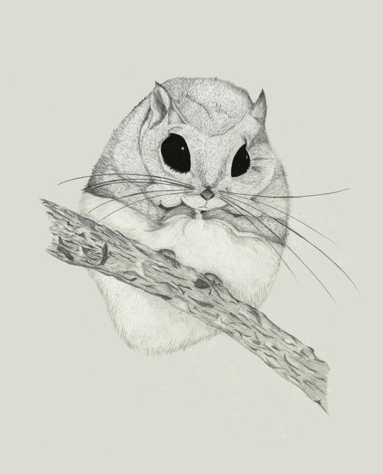 Fuzzball-gray Art Print
