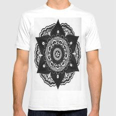Flower Mandala Number 2 Mens Fitted Tee SMALL White