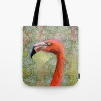 Red big bird Tote Bag