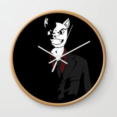 Business Cat Wall Clock