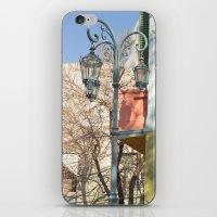 Street Lights Of La Boca… iPhone & iPod Skin