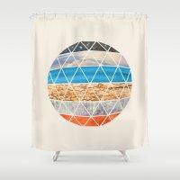 Eco Geodesic  Shower Curtain